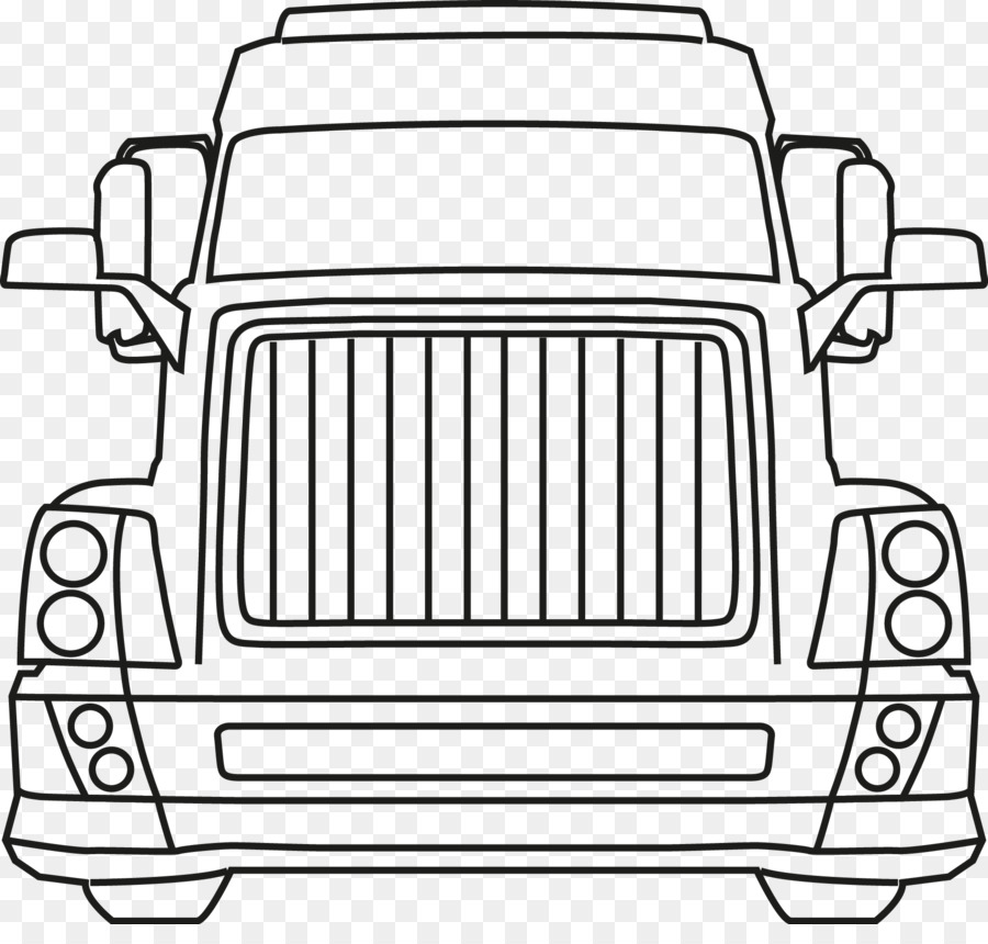 Truck - Lorry Clipart Black And White, HD Png Download - vhv
