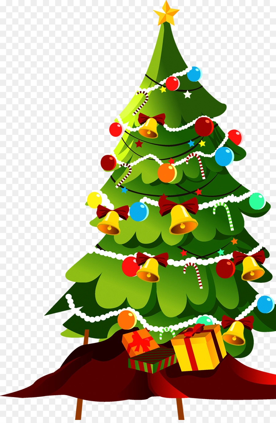 Christmas Tree Cartoon This is a set of detailed vector christmas tree illustrations: christmas tree cartoon