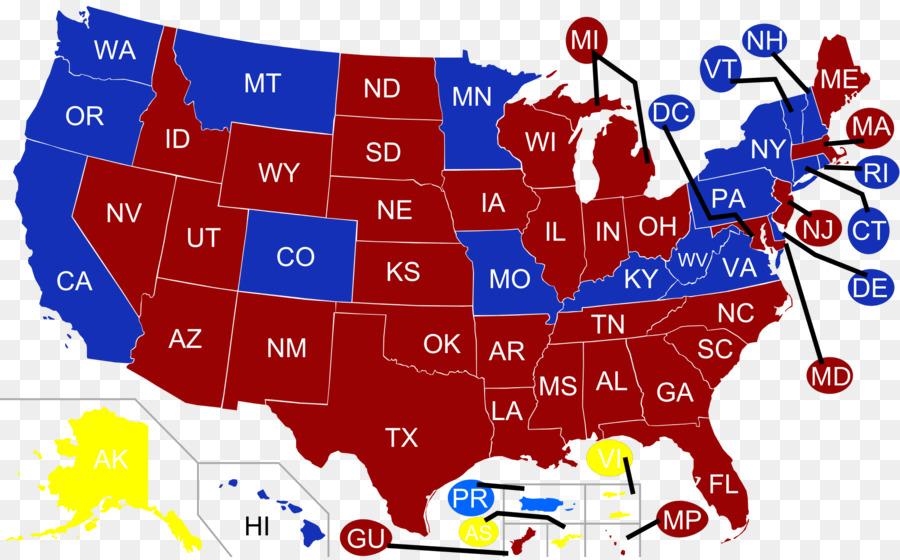 Us Political Parties Map Party Cartoon