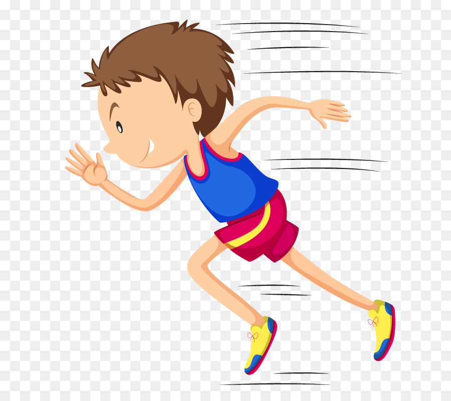 Man Jogging In Slow Pace, Male Sportsman Running - vector clipart