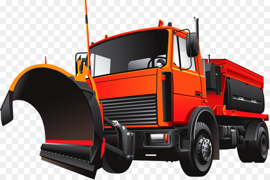 Snow Plow At Work Stock Illustration - Download Image Now - iStock