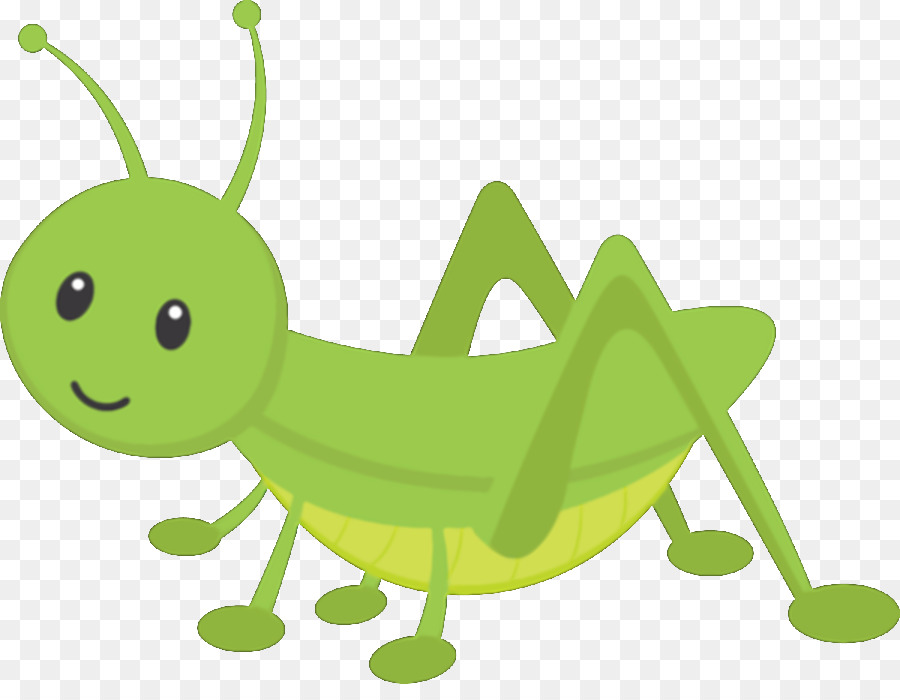Green Insect Grasshopper Cartoon Caterpillar