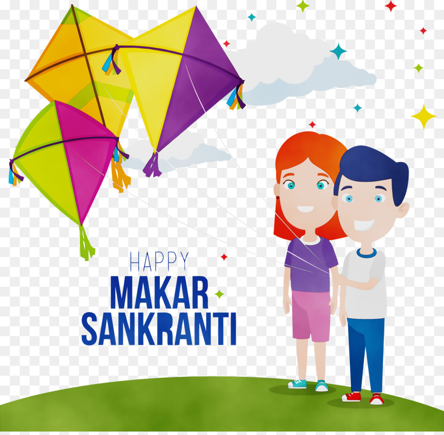 Cartoon Line Kite Play Child Subpng Pngfly
