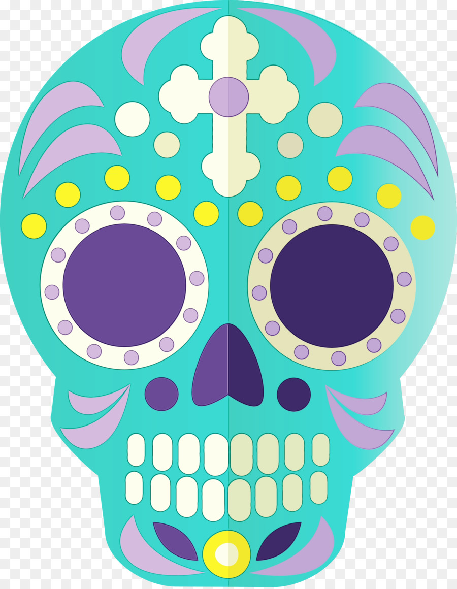 Calavera Day Of The Dead Drawing Loudspeaker Logo
